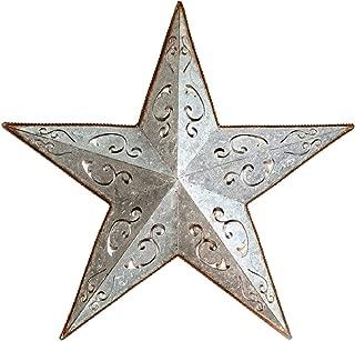GALVANIZED METAL LACY BARN STAR 24