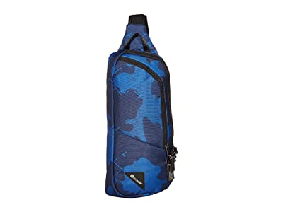 Pacsafe Vibe 150 Anti-Theft Crossbody Pack (Blue Camo) Cross Body Handbags