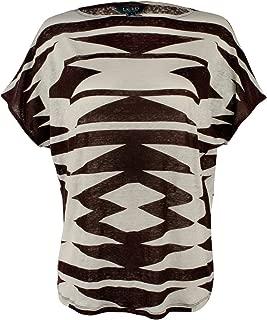 Women's Geometric Print Linen Top