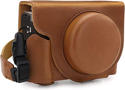 MegaGear Ever Ready Leather Camera Half Case compatible with Canon Pow...