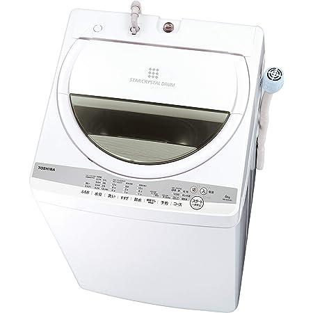 東芝 洗濯機 6.0kg 浸透パワフル洗浄 AW-6G9-W グランホワイト