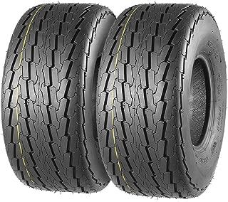 Trailer Tires 18.5X8.50-8 215/60-8 18.5-8.5-8 6PR Load Range C, Set of 2