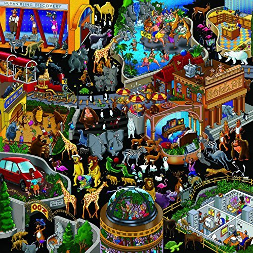 Ingooood- Jigsaw Puzzles 500 Pieces Adult- Detective Series (Zoo)