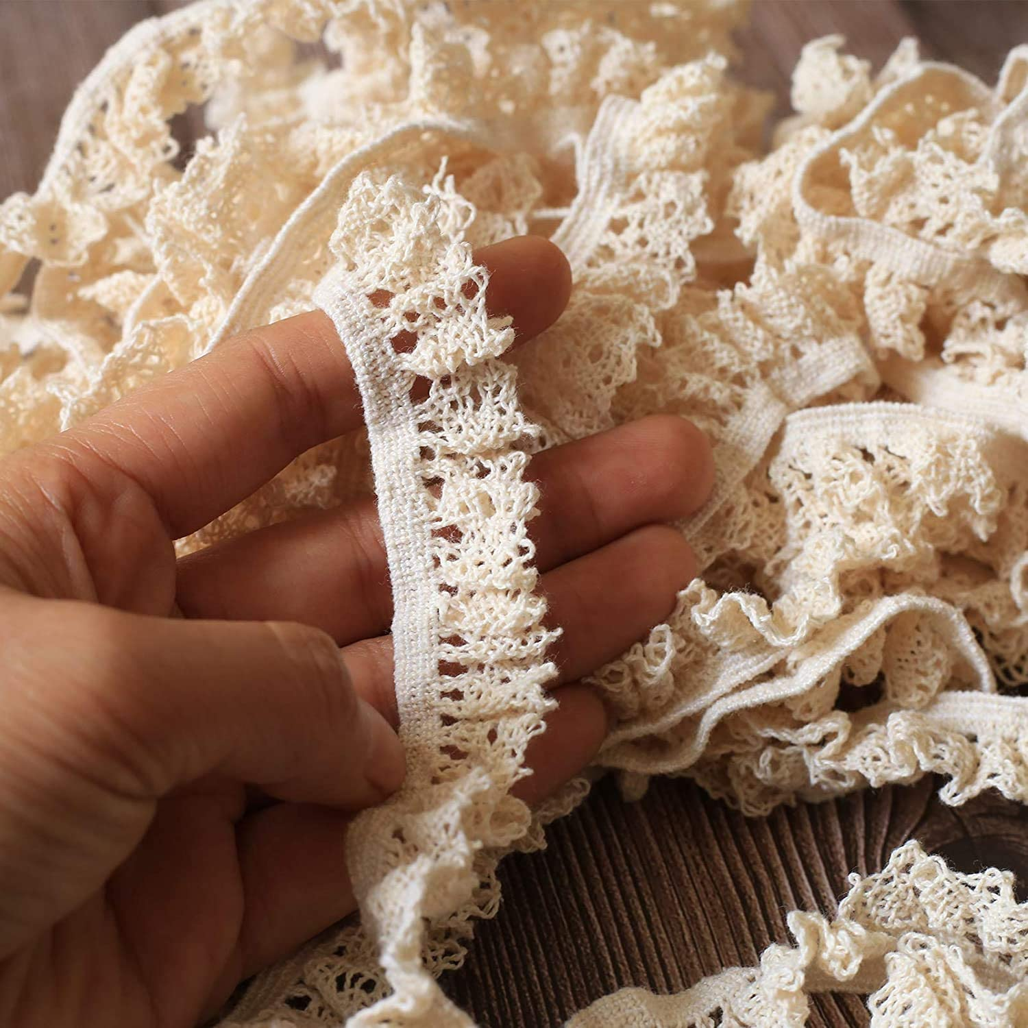 ToBeIT Cotton Elastic Lace Trim Spring new work one after another DIY Craft Max 66% OFF Delicate Scallo Ribbon