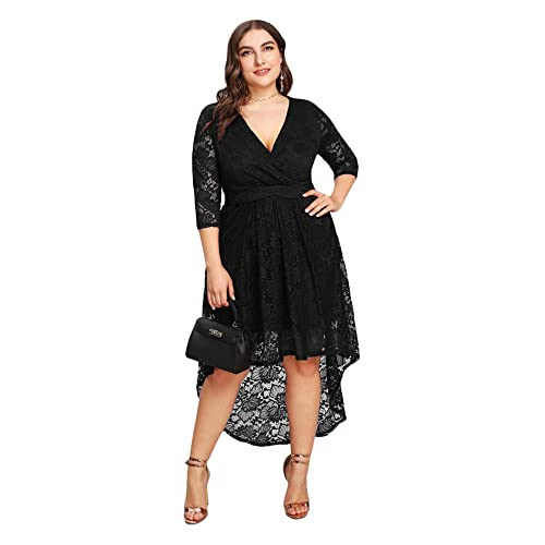 Black High Low Dresses for Plus Size: Amazon.com