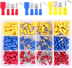 Hilitchi 255Pcs 22-16/16-14/12-10AWG Fully Insulated Female/Male Spade Quick Wire Crimp Terminals Connectors Kit