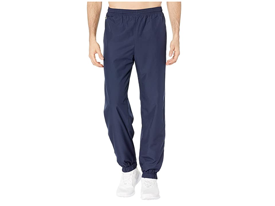 Lacoste Sport Taffeta Pants w/ Side Zip Detail (Navy Blue) Men