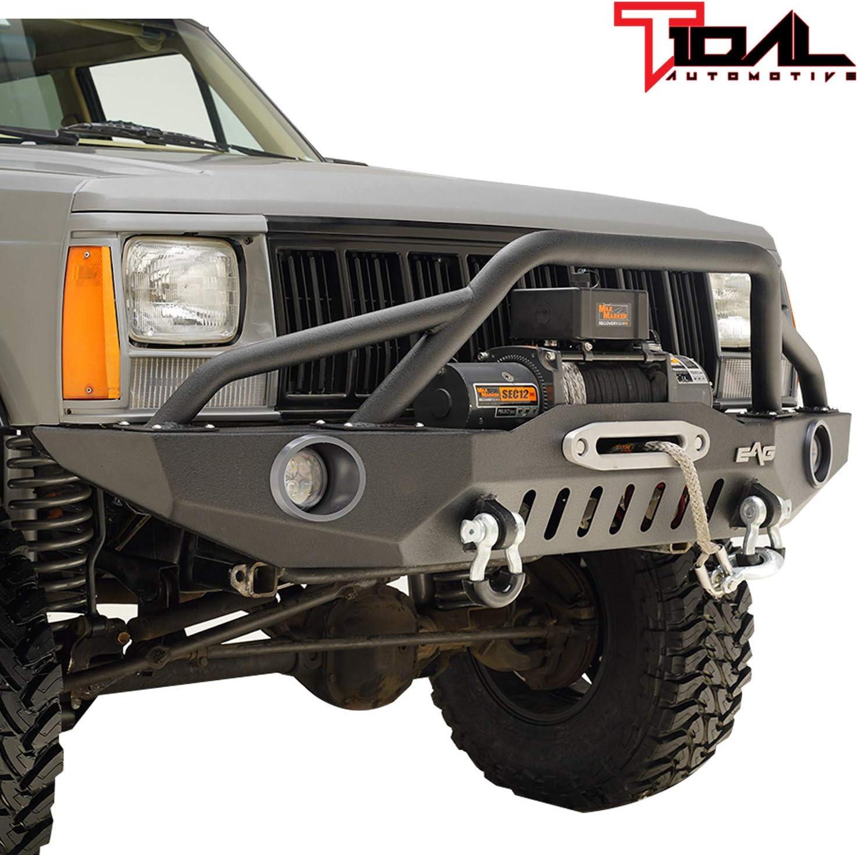 オープニング 大放出セール Tidal Off-road Front Bumper 爆買いセール with LED Fit 84-01 for Lights Cherok