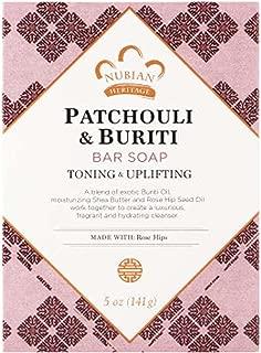 Nubian Heritage Patchouli and Buriti Bar Soap, 5 Ounce