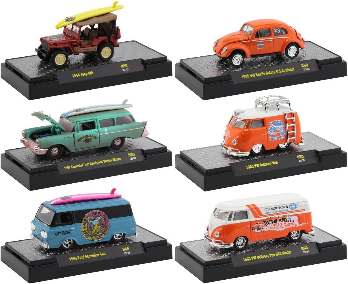 M2 Machines Auto Shows 6 Piece 贈物 Set 60 Display Cases 1 初売り Release in