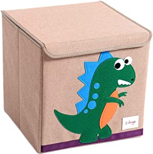 Kids Storage Box Foldable Pop Room Tidy Storage Chest Toy Box For Girls And Boys Perfect For Household Storage  Fabrics Toys for Clothes Shoes Toys Color Small animals Size Free size