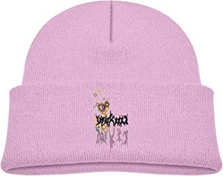 A Group of People Spree Beanie Cap Skull Hat Baby Girl Pink