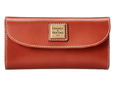 Dooney & Bourke Selleria Continental Clutch (Tan/Tan Trim) Clutch Handbags