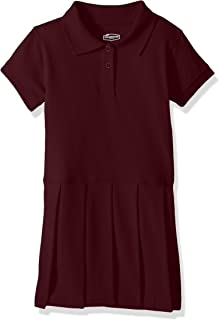 burgundy polo dress
