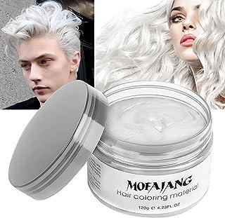 موم موی سفید موقت موی مو ، مو موی زنانه و زنانه Efly MOFAJANG 4.23 اونس Hair Pomades موم مردانه و زنانه (سفید)
