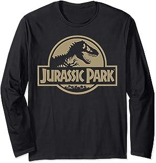 Jurassic Park Beige Flat Movie Logo Manche Longue