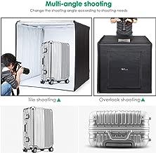 Amzdeal Photo Light Box 32 x 32in Photo Studio Professional Photography Tent with LED Light 3 Backdrops (White Black Orange)