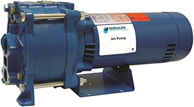 Goulds HSJ20N, Multi-Stage Convertible Jet Pump, HSJ Pump, 2 HP, 230 Volts, 1 Phase, 3 Stages, 1-1/4