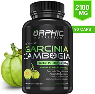 100% Pure Garcinia Cambogia Extract 95% HCA – 2100mg Appetite Suppressant –..