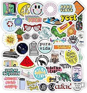 JVNVDS Stickers for Hydro Flask, Students Teens Girls Stuff Waterproof Trendy Stickers for Water Bottles, Laptops, Phones,Travel, Luggages Extra Durable 100% Vinyl(50 Pack) 58DC