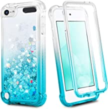 iPod Touch 7th 6th 5th Generation Case, Ruky 360°Full Body Protective Case with Built in Screen Protector Bling Liquid Flo...