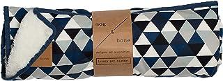 MOG & BONE Plush Blanket Blue Diamond Print
