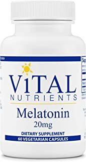 Vital Nutrients - Melatonin - Supports The Body's Natural Sleep Cycle - 60 Capsules per Bottle - 20 mg