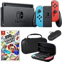 Nintendo Switch 32 GB Consola con Neon Blue & Red Joy-con + Deco Gear Mario Party Bundle