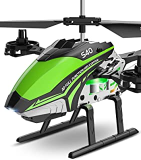 RC Helicopter, SYMA S40 Helicopter with 4 Channel Aircraft, Sturdy Alloy Material, Gyro Stabilizer and High &Low Speed, Mu...
