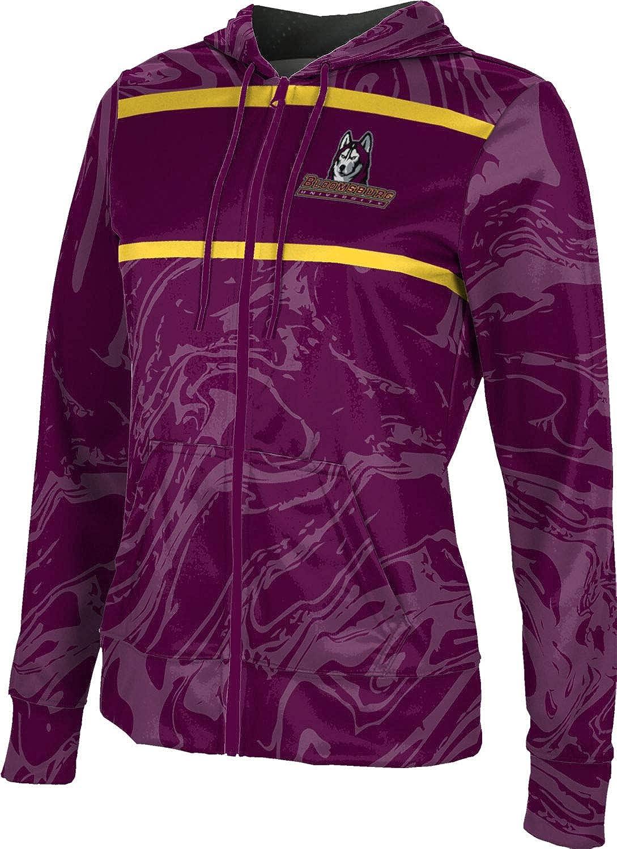 ProSphere Bloomsburg University Girls' Zipper Hoodie, School Spirit Sweatshirt (Ripple)