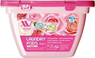 WBM Home Pods 5 in 1, Laundry Detergent Pacs, 32 Count, RoseScent, 32 Count