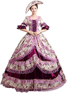 Vintage Renaissance Rococo Marie Antoinette Victorian Prom Wedding Dress Southern Belle Ball Gown Ten Colors