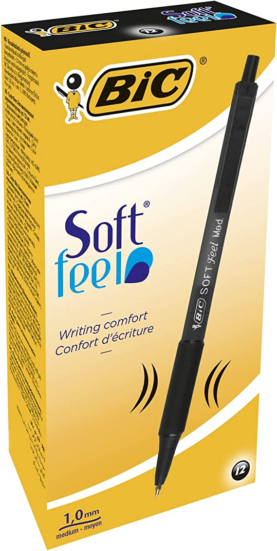 soft feel ball point pens 0.32 mm assorted pack of 4 Bic 942051Soft Feel Fun