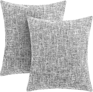 Throw Pillow Covers Decorative Cushion Case with Hidden Zipper for Home Faux Linen Square for Car Couch Cushion Covers (Light Grey, 20''X20'')