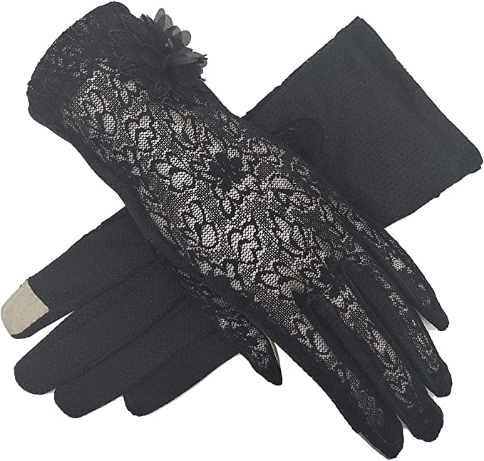 Vintage Style Gloves- Long, Wrist, Evening, Day, Leather, Lace Lace Gloves Women Bridal Wedding Derby Tea Party Sun Slip Protection Drive Stretch Touch Screen  AT vintagedancer.com