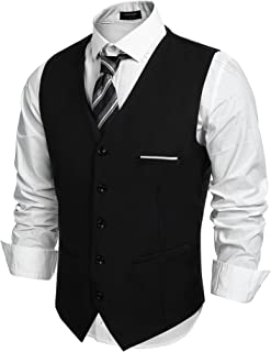 COOFANDY Men's Slim Fit Single Breasted / Double Breasted Vest with 5 Buttons Gilet Business Casual Classic Basic Men's Su...