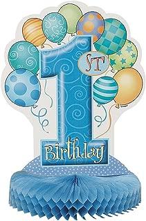 Unique Party- Decoración de Mesa de Papel de Seda Fiesta de Globos es de Primer Cumpleaños, 35 cm (23964)