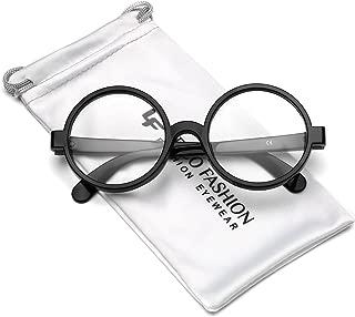 Round School Boy Clear Lens Glasses