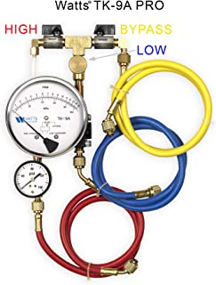 Watts TK9A PRO Backflow Test Kit Equipped with Free Line Pressure Gauge