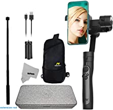 Freevision Smartphone Gimbal Stabilizer for iPhone 11 Xs Max XR X 8 Plus 7 6 SE Android Smartphone Samsung Galaxy max 3 Axis 255g Payload -VILTA SE +Tripod, Carry Bag and Extension Rod