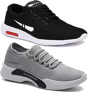 WORLD WEAR FOOTWEAR Men's (9098-1200) Casual Sports Running Shoes (Set of 2 Pair)