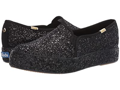 Keds x kate spade new york Triple Decker All Over (Black Glitter) Women