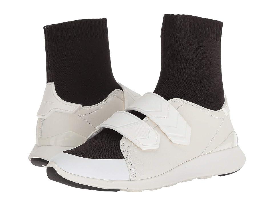 Tory Sport Chevron Strap Sock Sneaker (Perfect Black/Snow White) Women