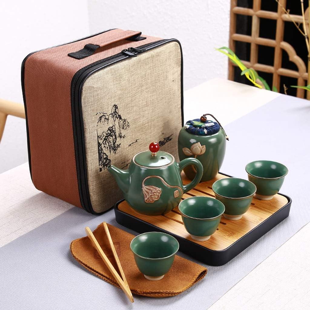 DIAOD Ceramic Teapot One Pot Four Tea Outdoor Kung Ranking TOP4 Cup Japan's largest assortment Fu Travel