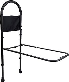 Vaunn Medical Bed Rail Assist & Height Adjustable Grab bar Handle for Adults & Seniors, Charcoal Black