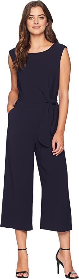 Cropped Side-Tie Jumpsuit