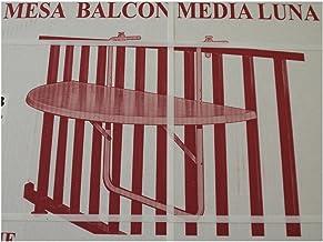 Halfronde opvouwbare stalen tafel voor balkonrails, 100 x 50 cm, twee kleuren Kleur: wit