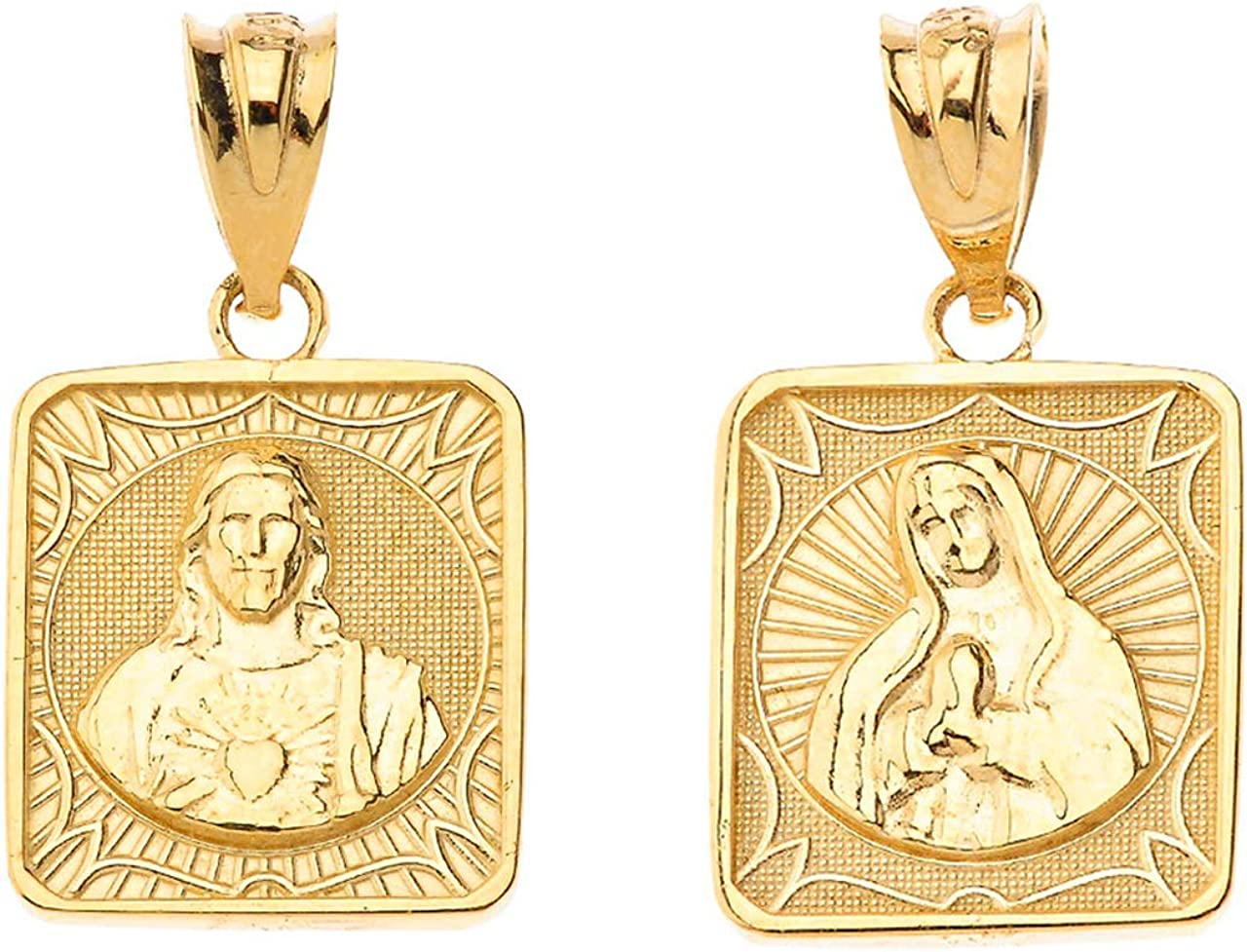 Certified 10k Gold Immaculate Heart of Mary/Sacred Heart of Jesus 0.87