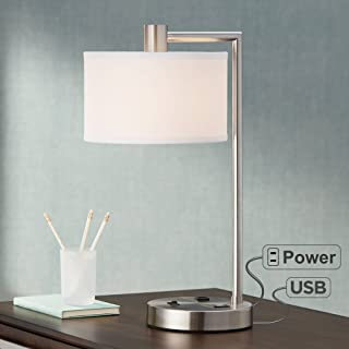 lamp with usb port and outlet