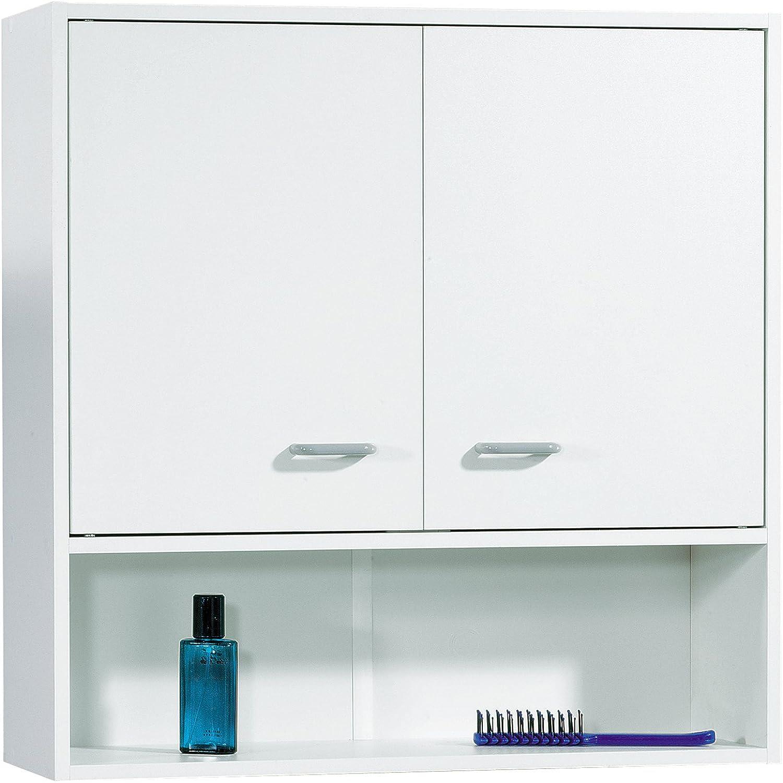FACKELMANN Hngeschrank Standard mit Kunststoffgriffen Mae (B x H x T)  ca. 65 x 65 x 20 cm Schrank fürs Bad Mbel fürs WC oder Badezimmer Korpus  Wei Front  Wei Breite 65 cm